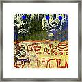 Spread Truth Angels Framed Print