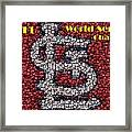 St. Louis Cardinals World Series Bottle Cap Mosaic Framed Print
