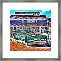 St Michaels Crab And Steak House Framed Print