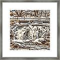 St Vrain River Waterfall   Framed Print