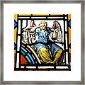 Stained Glass Angel Framed Print