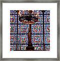 Stained Glass At Notre Dame Cathedral Framed Print