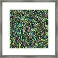 Stained Glass In Abstract Framed Print