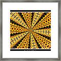 Stained Glass Kaleidoscope 37 Framed Print