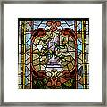 Stained Glass Lc 12 Framed Print by Thomas Woolworth