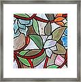 Stained Glass Wild  Flowers Framed Print