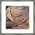 Stainless And Rust Abstract Framed Print