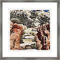 Staircase Stones Framed Print