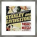 Stanley And Livingstone, Spencer Tracy Framed Print