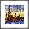 Starred Saint Petersburg Framed Print