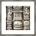 Stone Carvings In An Indain Temple Framed Print