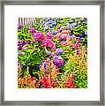Storming The Garden Gate Framed Print