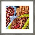 Street Food Snacks In Seoul Framed Print