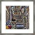 Street Lane In Dubrovnik Croatia Framed Print