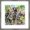 Street Musicians In Cyprus Framed Print