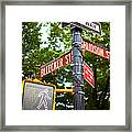 Street Signs In Nyc Framed Print
