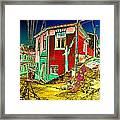 Streets Of Valparaiso Framed Print