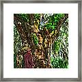 Strolling With Giants Painted Framed Print