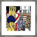 Studying Gaudi Framed Print by Nina Mirhabibi