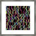 Sudoku Random Slanting Vertical Lines Framed Print
