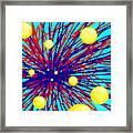 Summer Splat With Yellow Balls Framed Print