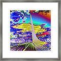Sun Dial Bridge Redding Ca   Framed Print