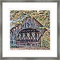 Sunday River Covered Bridge Framed Print