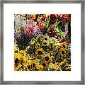 Sunflowers And Glads Framed Print