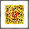 Suns Party Framed Print