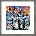 Sunset Cloud Colors  4 Framed Print