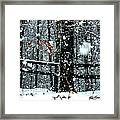 Supersized Snowflakes Framed Print
