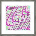 Swirly Check Framed Print
