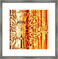 Swirly Embossed Gold Framed Print