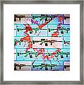 Symbolic Wall That Blocks The Expansion Of Consciousness Framed Print by Paulo Zerbato