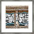 Tagged Window Framed Print