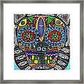 Talavera Sugar Skull Owl Framed Print