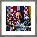 Technician With Lego Footballers At Robocup-98 Framed Print