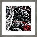 Temple Lion Framed Print