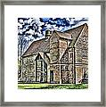 Temple Manor Framed Print