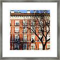 Tenement House Facade In Madrid Framed Print