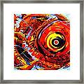 Textured Red Fish Framed Print