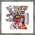 Tezcatlipoca, Aztec God Of Night, Codex Framed Print by Photo Researchers