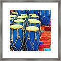 The Blue Drums Framed Print