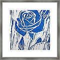 The Blue Rose Framed Print