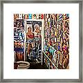 The Coolest Men's Room West Of The Pecos Framed Print