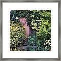 The Courtyard Garden, Fairfield Lodge Framed Print