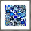 The Fathomless Blue Of Bliss Framed Print