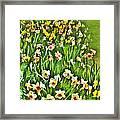 The Flower Bed Framed Print