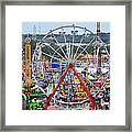 The Great American Midway Framed Print