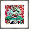 The Happy Chef Framed Print